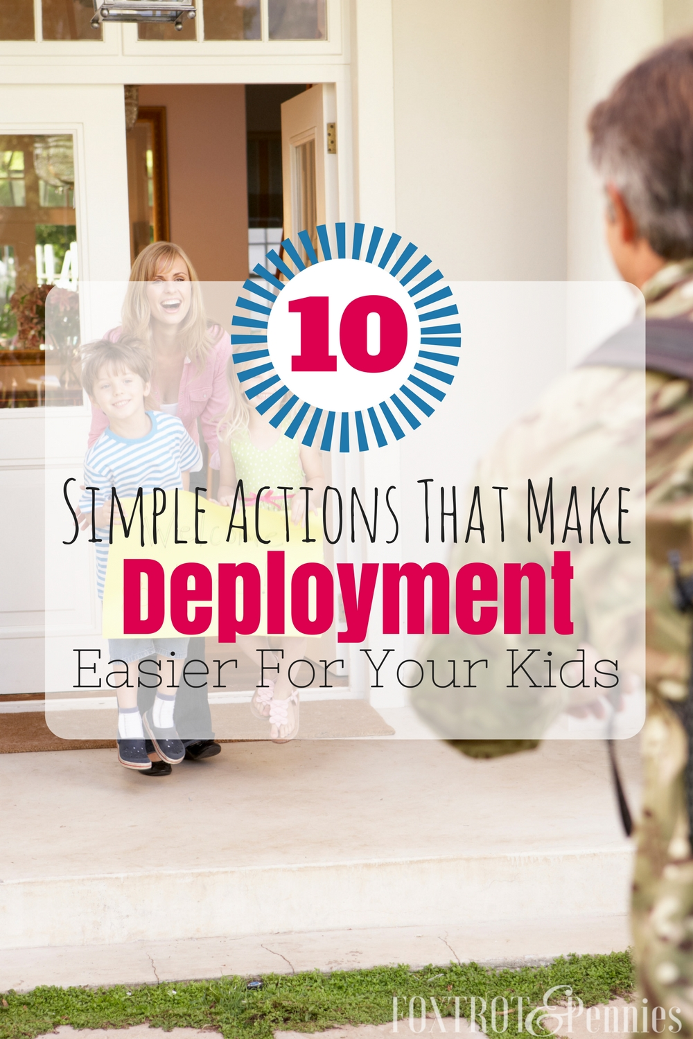 Yes! Finally a article with helpful and actionable things you can do to make the transition and pain of deployment a little bit easier for your kids. Great article!