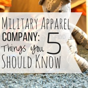 Military Apparel Company: 5 Things You Should Know