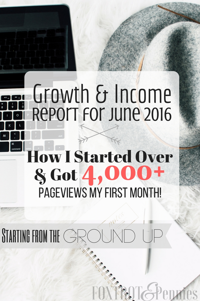 How I started from scratch, relaunched my blog, and got over 4,000 page views my very first month!