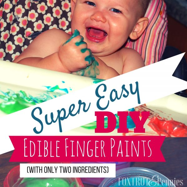 Super Easy DIY Edible Finger Paints (With Only Two Ingredients)