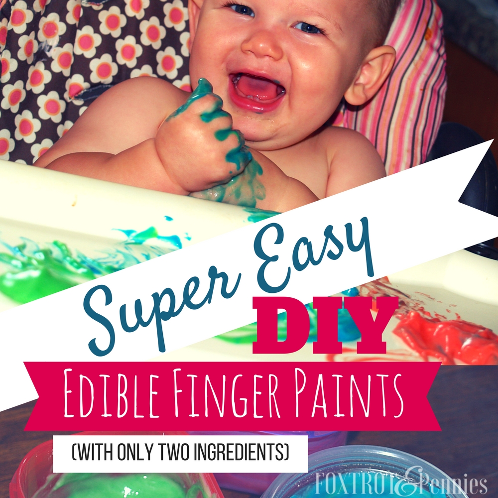 He had so much fun with this easy and affordable DIY project. Only two ingredients made this awesome edible finger paint! Definitely our new go to activity!
