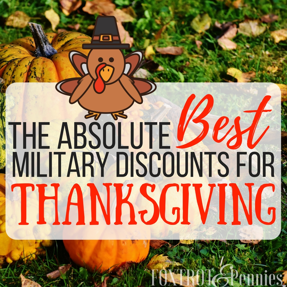 These are some of the best military discounts for thanksgiving I've seen! Saving money is always great around the holidays! Click to find out more..