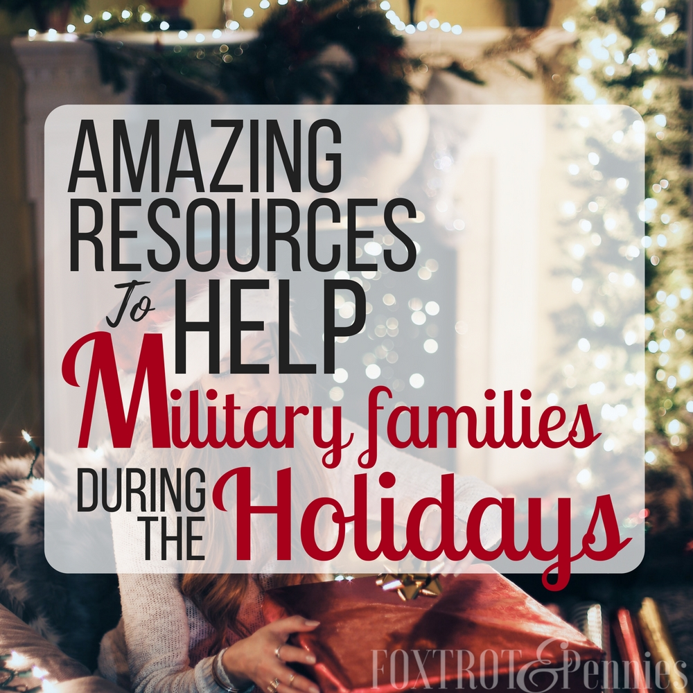 Wow!! Awesome resources to help military families in need during the holidays! If YOU need help or know someone that does, you definitely need to check this out!!