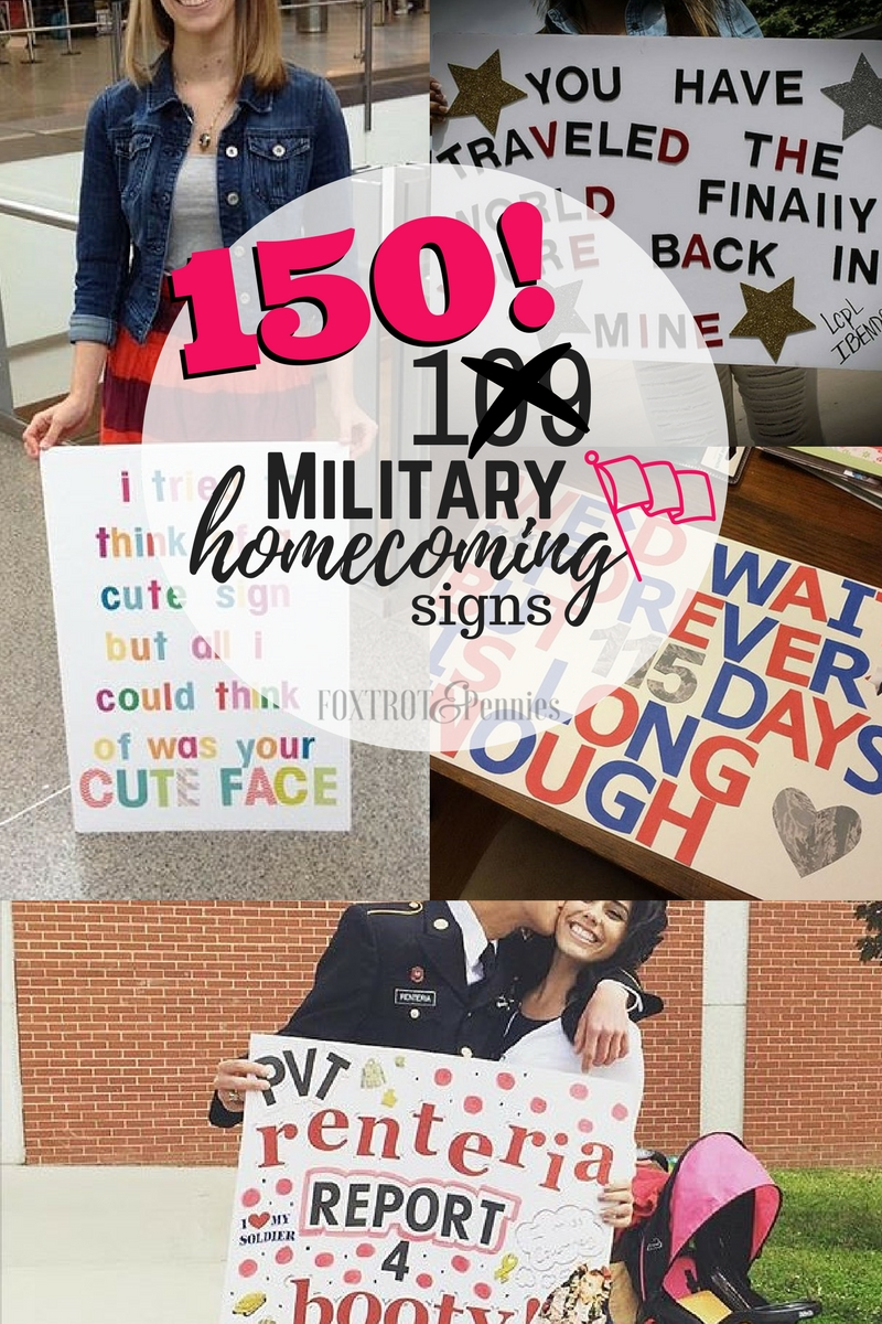 150 different unique and fun military homecoming sign ideas you will DEFINITELY want to use on your homecoming day!!