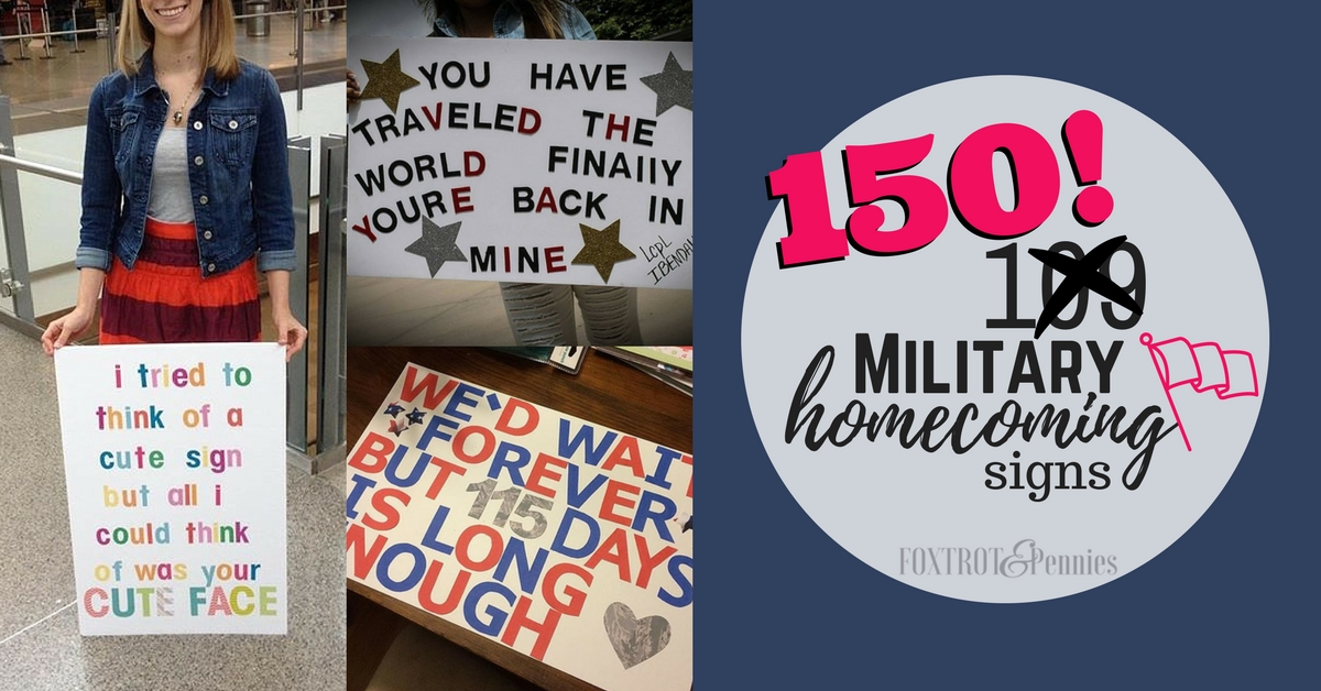 150 Military Homecoming Signs | Unique and Fun Signs For ...