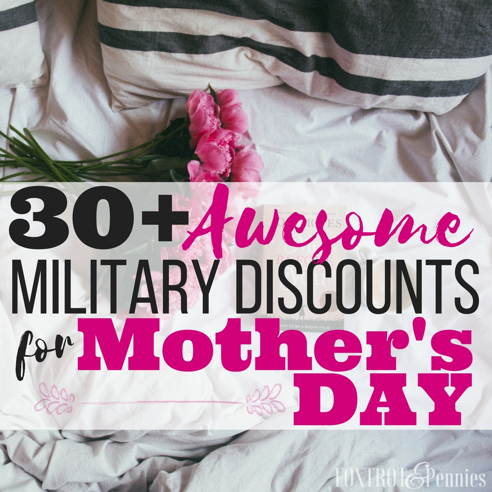 These are great! Holidays can be such a strain on our budget, I'm so glad there are military discounts for mothers day so I can actually get my mom something awesome this year! Saved!