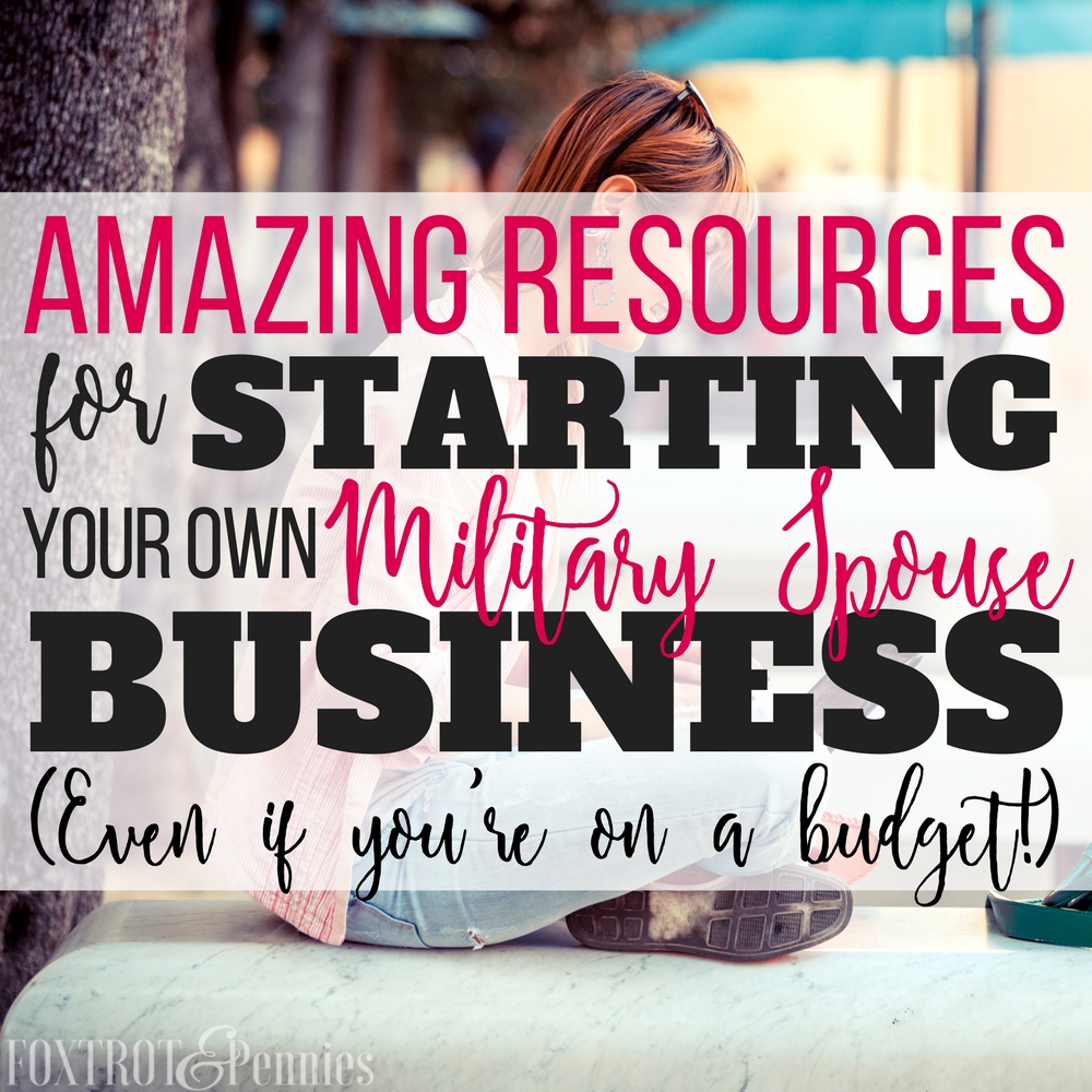 I always wanted to start my own business but I never knew where to start! Not to mention, I'm on a budget-- so that part worried me too but these resources are GREAT for the military spouse that wants to start their own business and have a PCS proof career!