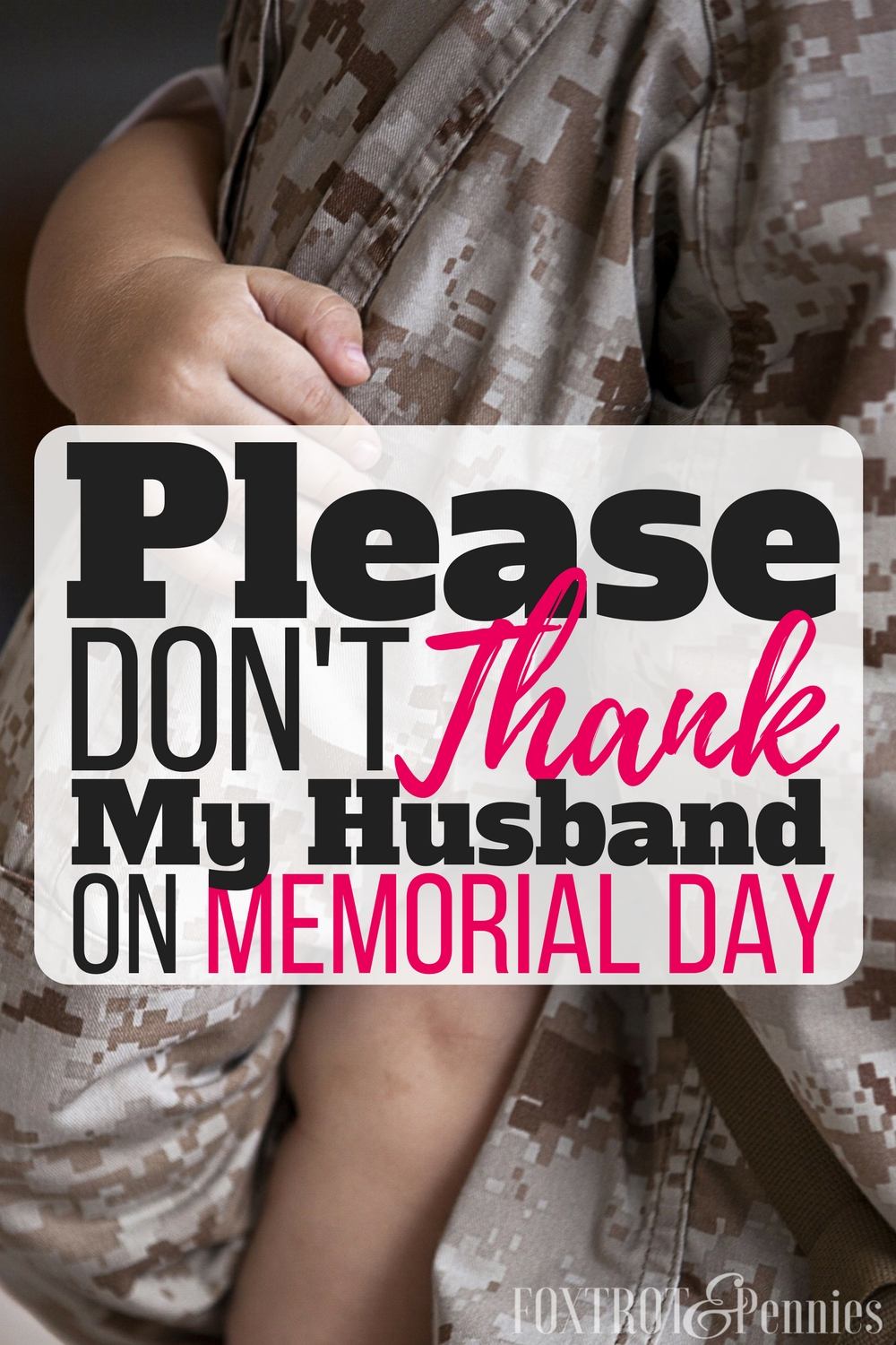 Yes, this is so true! Such an honest article about the difference between Memorial Day and other military appreciation days-- so glad this was said!