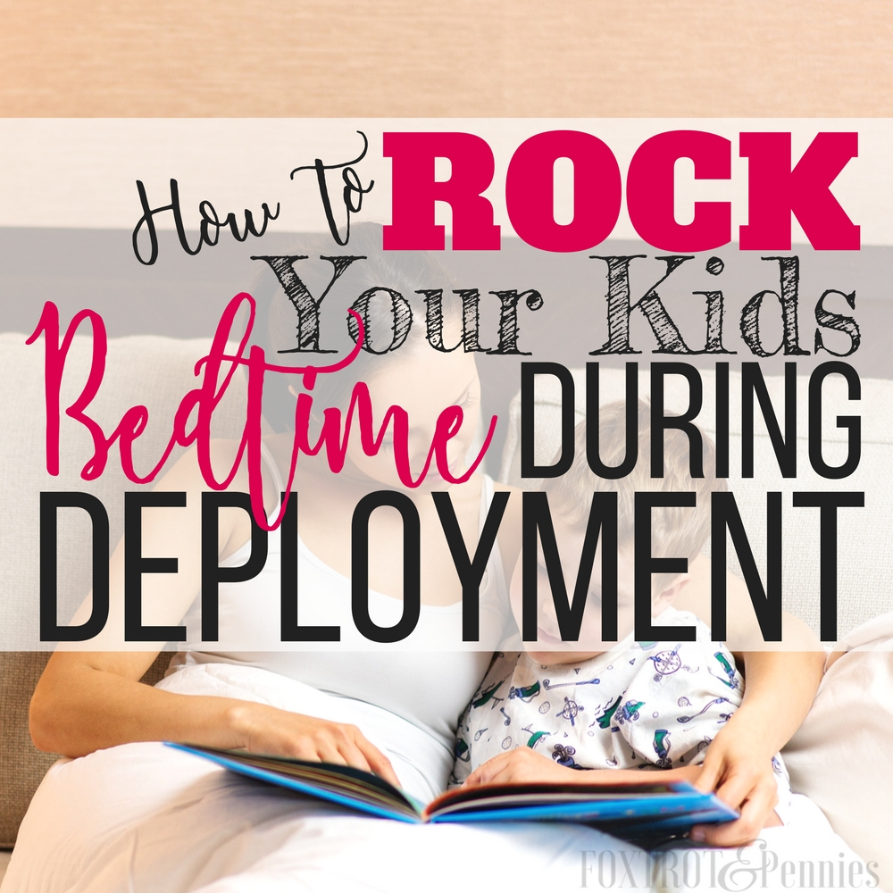 Bedtime during deployments is SUCH a struggle-- I can't even tell you how much frustration and arguments I've had with my kids just trying to get them to go to bed! These tips are great and also help me and my kids communicate better. Bedtime during deployment is no longer such a struggle and my kids even seem happier and more cooperative during the day too