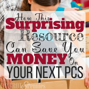 How This Surprising Resource Can Save You Money on Your PCS!