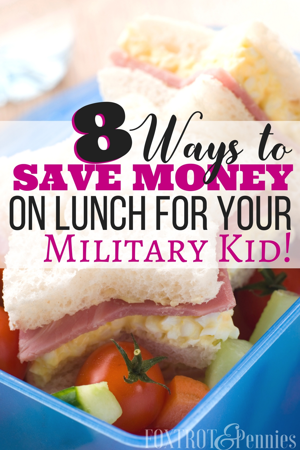 These tips are life saver! Ugh lunch was not only a hassle but it ate up my budget like you wouldn't believe, especially having to make the kids lunches to go! I wanted to save money by avoiding eating out or having them buy lunch at school but I couldn't see how to do it! This article is perfect and really helps me find ways to save money on groceries and use my military resources to cut cost on lunches for my military kid! Awesome!