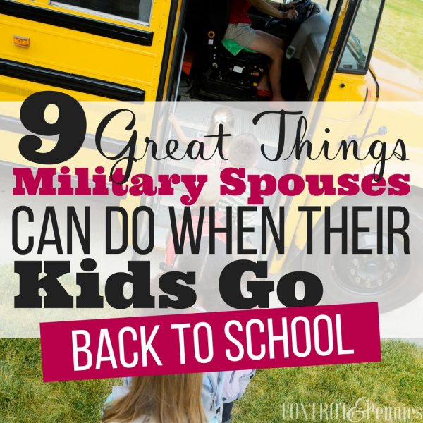9 Things Military Spouses Can Do When Kids Go Back To School