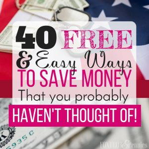 40 Frugal Living Ideas for Military Families (That You Probably Haven't Thought Of)